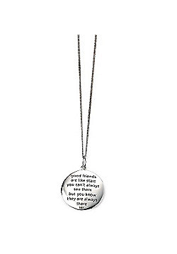Friends Are Like Stars Silver Pendant