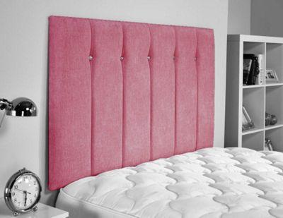 ValuFurniture Jubilee Chenille Fabric Headboard - Pink - Single 3ft