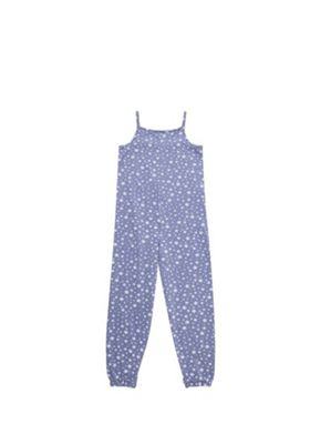 F&F Star Print Jersey Sleep Jumpsuit Blue 3-4 years