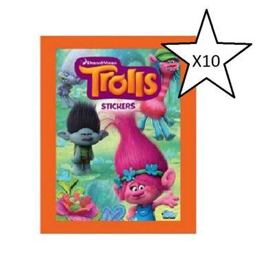 Topps Dreamworks Trolls Stickers - 10 Packs Supplied