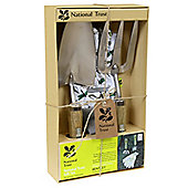 Charles Bentley National Trust Gift Set With Hand Trowel, Hand Fork And Soft Cotton Gloves Garden Tools
