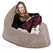 Lounge Pug® Extra Large Bean Bag - Cord Ivory