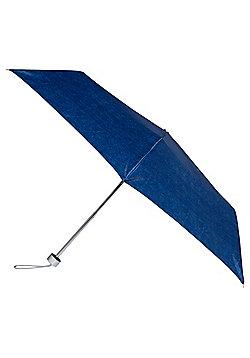 Totes Denim Look Supermini Umbrella - Denim blue