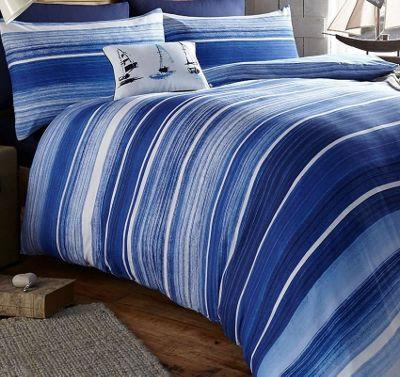 Nautical King Size Duvet Set - Blue Stripe