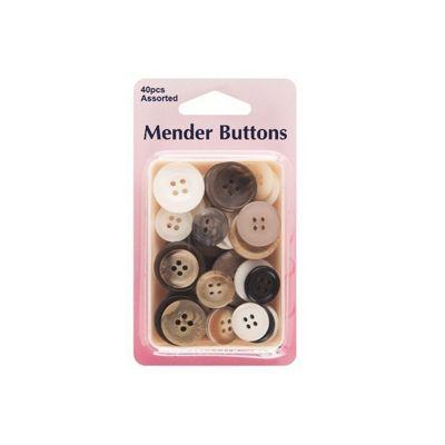 Hemline Mender Buttons Assorted 40 Pack