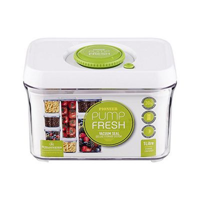 Pump Fresh Storage Canister 1L, White and Green