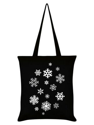 Snowflakes - Christmas Slogan Black Tote Bag