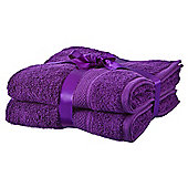 Tesco Egyptian Cotton 2 Pack Hand Towels Purple