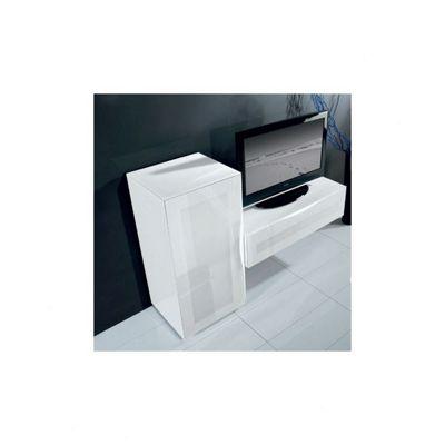 Triskom Exclusive Composition 4 TV Stand - Composition 4A - Black - Left