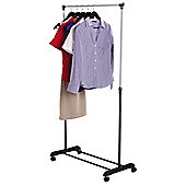 Double Adjustable Mobile Clothes Rail