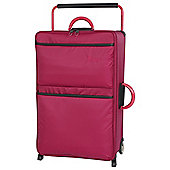 IT Luggage World's Lightest 2-Wheel Medium Persian Red Suitcase