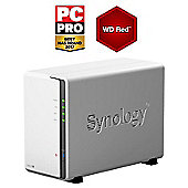 Synology DiskStation DS216J/16TB-RED 2-Bay 16TB(2x8TB WD RED) Desktop NAS Solution