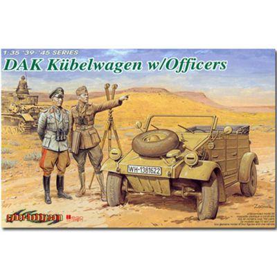 DRAGON 6364 DAK Kubelwagen with Officers 1:35 Military Model Kit