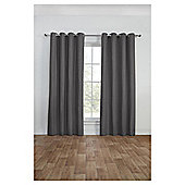 Canvas Lined Eyelet Curtains - Grey