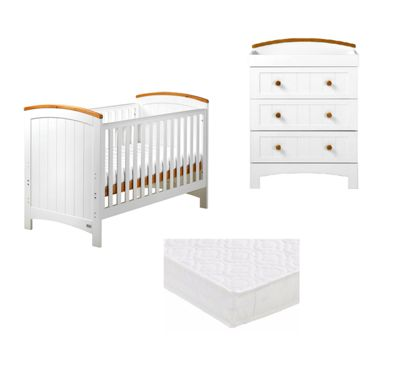 East Coast Coast 2 Piece Nursery Room Set With Pocket Sprung Mattress - Sailcloth/Ivory