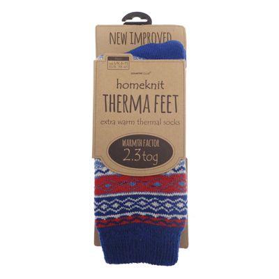 Homeknit Mens Thermal Socks UK 6-11, Blue