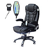 Homcom Massage Office Computer Chair W/Heat-Black