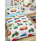 Trucks And Transport 4 In 1 Junior Bedding Bundle Set (Duvet, Pillow And Covers)