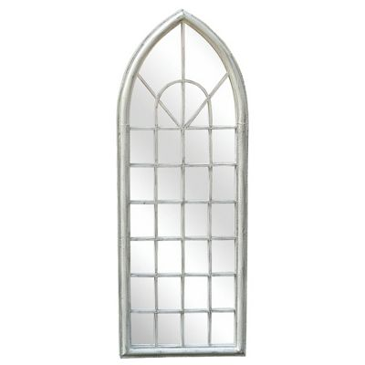 Charles Bentley Arch White Outdoor Mirror