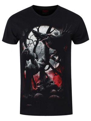 Spiral Dark Roots Men's Black T-shirt