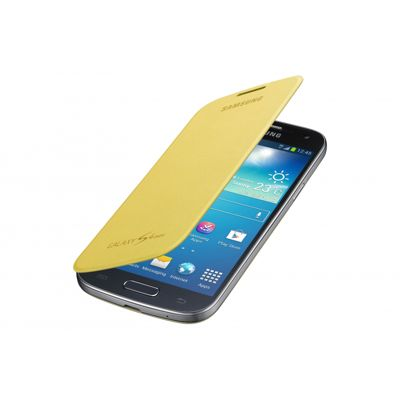 Samsung Original Flip Case For Galaxy S4 Mini - Yellow