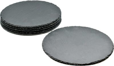 Argon Tableware Round Natural Slate Placemats - Set Of 6