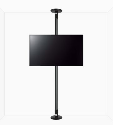 B-Tech Floor to Ceiling Mount for up to 55 inch TVs - 2m Pole - Black