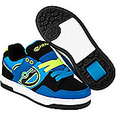 Heelys Flow Child's Shoe with wheels - Royal/Black/Lime - Various Sizes - Blue