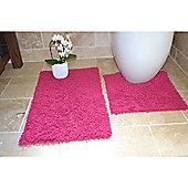 Rapport 2 Piece Bath Mat Set - Pink