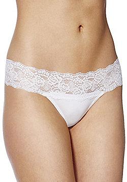 F&F Bandeau Lace Thong - White