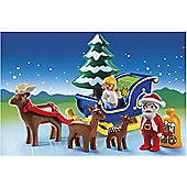Playmobil 123 - Santa Claus With Reindeer Sled