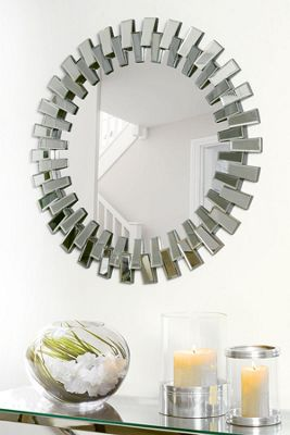 Cog Round Wall Mirror