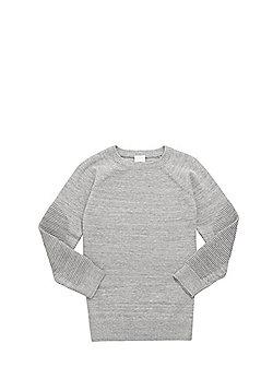 F&F Ripple Knit Sleeve Jumper - Grey