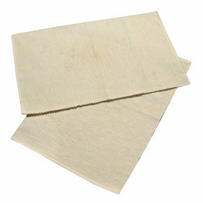 Homescapes Cotton Plain Cream Pack of 2 Placemats