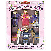 Melissa Doug Royal Family Wooden Doll Set