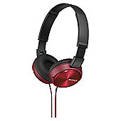 Sony MDR-ZX310 On-Ear Headphones - Red