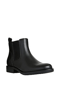F&F Leather Chelsea Boots - Black