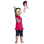 Disney Minnie Mouse & Daisy Duck UV Shirt Shorts and Sun Hat Set 5 to 6 Years