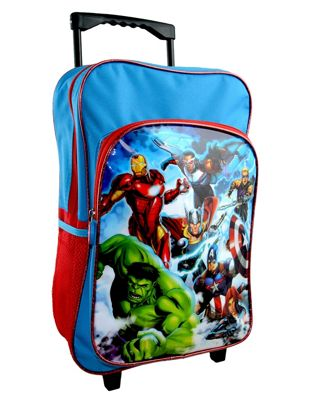 Avengers 'Force' Trolley Backpack School Travel Roller Wheeled Bag