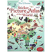 Usborne Sticker Picture Atlas Of The World Book