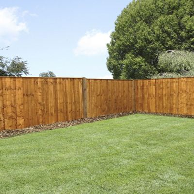 Mercia Vertical Hit and Miss Fence Panel 3ft Dipped