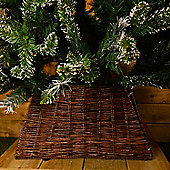 Natural Wicker Christmas tree skirt - Stand Cover (brown) - 30x52cm
