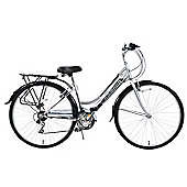 Ammaco Ascot 700c Ladies 18 Speed Hybrid City Bike Silver