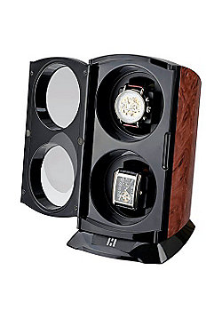 Time Tutelary Automatic Tower Double Watch Winder BURL KA015