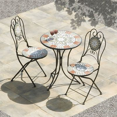 Buy Sabaluca Star Mosaic Cast Iron Bistro Set From Our