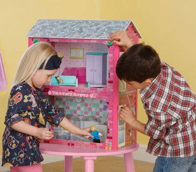 Plum Camden Court Children's Wooden Dolls House with Accessories