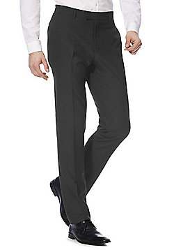 F&F Slim Fit Suit Trousers - Charcoal