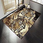 Element Wildlife Tigers Brown 120x160 cm Rug