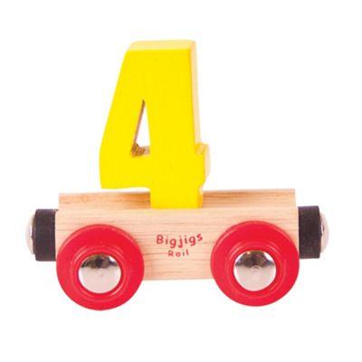 Bigjigs Rail Rail Name Number 4 (Yellow)