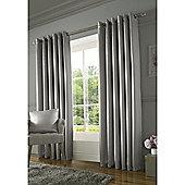 Alan Symonds Burj Eyelet Curtains - Silver